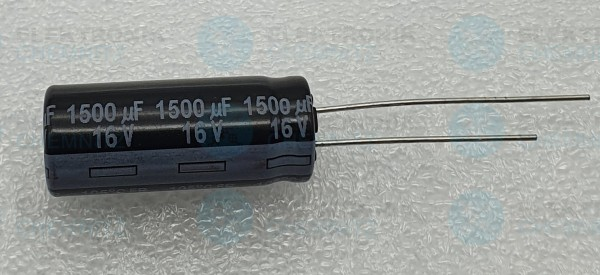 Elektrolytkondensator radial 1500µF 16V 105°C RM 5 normale Bauform DM 10mm