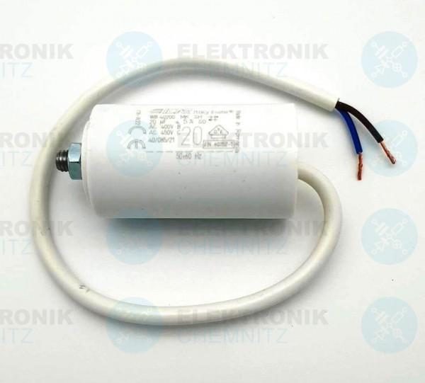 Betriebskondensator 12µF +-5% mit Kabel