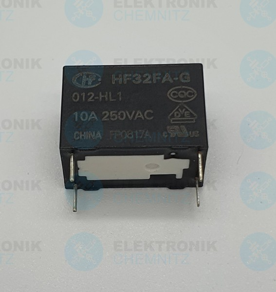 Hongfa Printrelais HF32-FA-G 012-HL1 10A