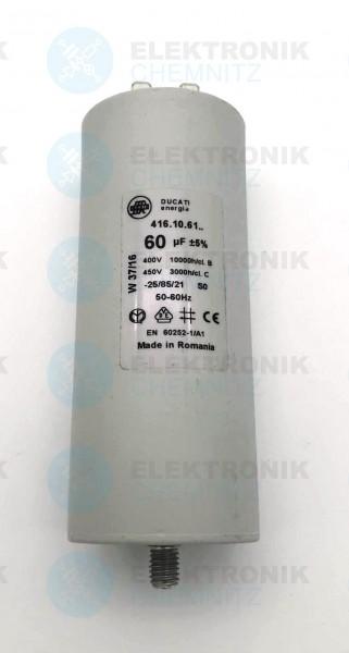 Betriebskondensator 60µF +-5% mit Flachstecker