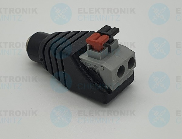 DC Power Anschlussmodul Push In 5,5x2,1 Buchse