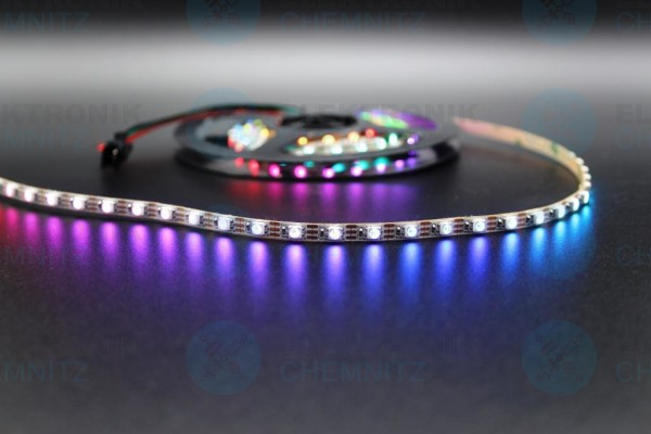 LED Streifen 3535-90-SK6812 digital DC5V RGB 90px/m IP20 PCB: weiß 5mm