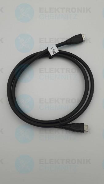 HDMI Kabel schwarz 1,0m 2x HDMI Mini Stecker Typ C