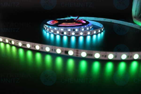 LED Streifen 5050-60-UCS2904B digital DC24V RGBW 6000K 10px/m IP20 PCB: weiß 10mm