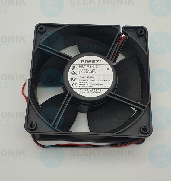 PAPST Multifan 4212 Lüfter 119x119x38 DC12V 4,3W