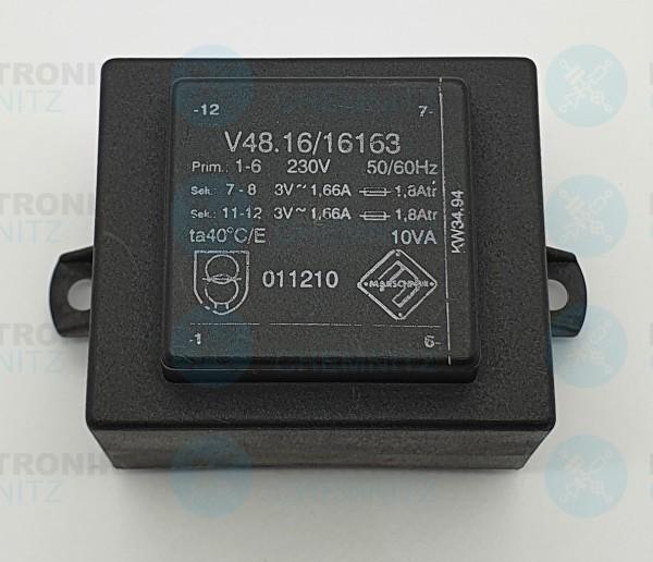 Printtrafo Marschner V48.16/16163 230V 2x3V 1660mA