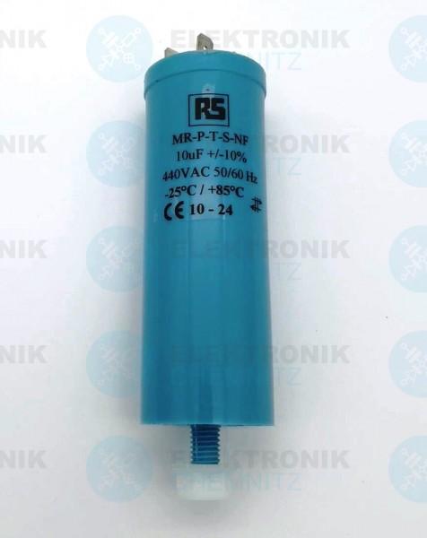 Betriebskondensator 10µF +-10% mit Flachstecker