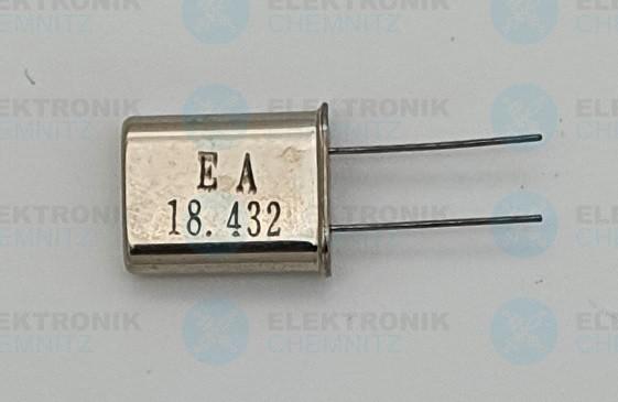 Quarzoszillator EA 18.432MHz HC49-U